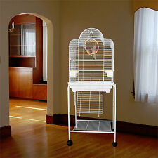 "Manoa Mansion Dometop Bird Cage - 21""W x 16""D x 56""H - With Stand or Without"