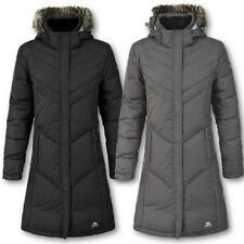 TRESPASS LADIES SACHS DOWN JACKET WOMENS OUTDOOR COAT FUR HOOD WINTER LONG