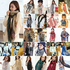 Fashion Womens Soft Neck Scarf Large Wrap Ladies Long Shawl Stole Silk Scarves