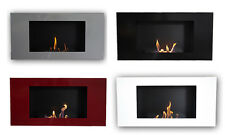 Bio Ethanol Wall Fireplace Valencia Deluxe Steel or Stainless Steel + 1 Firebox