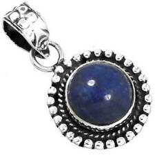 Natural Lapis Gemstone Pendant 925 Sterling Silver Handmade Jewelry EX49525