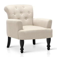 Wing Armchair French Provincial Linen Fabric