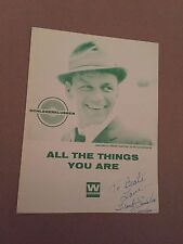 """Frank Sinatra Sheet Music """" ALL THE THINGS YOU ARE """" SIGNED"""
