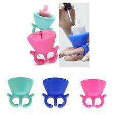 Soft Silicone Wearable Nail Art Polish Bottle Stand Finger Ring Display Holder