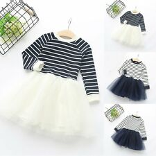 Flower Girls Kids Toddler Baby Princess Party Pageant Wedding Tulle Tutu Dresses