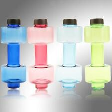 NEW 500ml Dumbbell Shaped Sports Travel Water Drinking Bottle Gym Exercise Cup