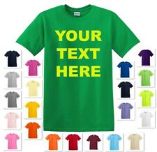 NEW PERSONALIZED CUSTOM PRINT YOUR OWN TEXT ON A T-SHIRT CUSTOMIZED TEE COLOR