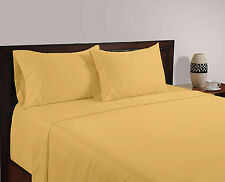 800 TC Gold Solid-Duvet/Fitted/Sheet Set/Pillow Egyptian Cotton All Size