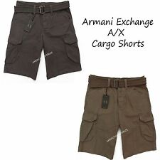 ARMANI EXCHANGE A|X NEW MENS BELTED CARGO SHORTS,NWT,RETAIL$68.50,VERY NICE