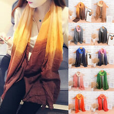 Women Lady Gradient Color Warm Long Scarf Stole Shawl Wrap Pashmina Scarves