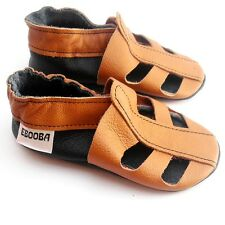 Tan leather soft sole baby sandals, prewalker, first shoes, first walker.