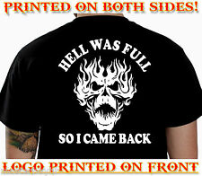 HELL BIKER T-SHIRT MOTORCYCLE CLOTHES GOTHIC REAPER TRIBAL TATTOO FUNNY GIFT, 95