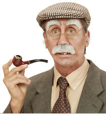 Old Man Instant Kit Mustache Eyebrows Nose Ear Hair Glasses Pipe Cap