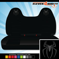 92-08 Ford F150-750 Black Front Bench Seat Covers Spider Logo. Choose Logo color
