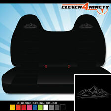 92-08 Ford F150-750 Black Front Bench Seat Covers Mountain Logo. Chse Logo color