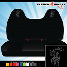 92-08 Ford F150-750 Black Front Bench Seat Covers T DEER Logo. Chse Logo color