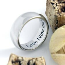 Couples Ring Purity Ring Love Now and Forever Promise Ring Love Infinity Ring Be