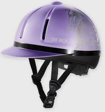 Troxel Riding Safety All purpose Equestrian  Helmet Purple lavender Legacy S M L
