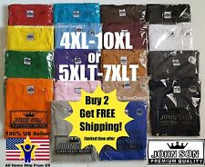 Big and Tall T-Shirts 5XLT 6XLT 7XLT John Son Super Heavy Weight