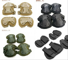 Strong Tactical Airsoft Combat Paintball Knee Elbow Pad Support Skate Protector