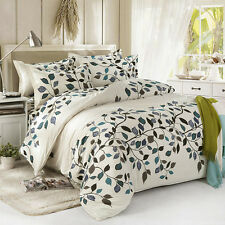 Leaves Tree Twin Double Queen King Bed Set Pillowcases Quilt Duvet Cover Ous