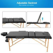 "2"" Pad 73"" Portable Massage Table Chair Folding Beauty Salon Facial Spa Bed N8N5"