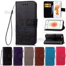 Card Holder Leather Flip Wallet Case Cover Stand Floral For iPhone & Samsung