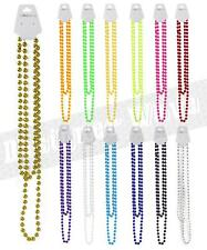 Colour Plastic Beads Necklace Long Rave Neon Party Festival Rope Rosary Bright