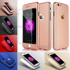 360° Full Protective Hard Thin Case Cover + Tempered Glass For iPhone 7 6S Plus