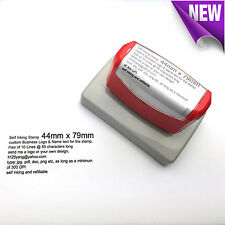 44mm x 79mm Custom Business Logo Text Rubber Flash Stamp Self Inking Refillable