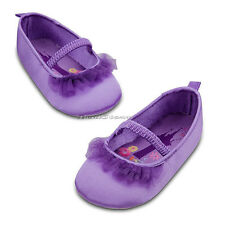 NEW DISNEY STORE TANGLED PRINCESS RAPUNZEL COSTUME BABY SHOES SLIPPERS 24 MONTHS