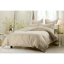Taupe & White Multi Square Duvet Cover Set Style #1015  - Cherry Hill Collection