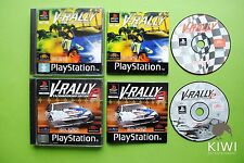 V-Rally 97 & V-Rally 2 Sony Playstation PS1 PAL Game Bundle + Works On PS2 & PS3