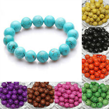 New Vogue Turquoise Gemstone Round Loose Spacer Bead Jewelry Finding 4/6/8/10mm