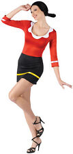 Sexy Olive Oyl Popeye Adult Womens Halloween Costume