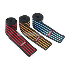 Powerlifting Weight Lifting Elasticated Knee Wraps Bandage Support Gym Straps
