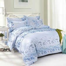Quiet Simple Twin Double Queen King Bed Set Pillowcases Quilt Duvet Cover Ous