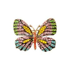 Shiny Crystal Rhinestone Butterfly Brooch Pin Accessory Gift for Girl Women