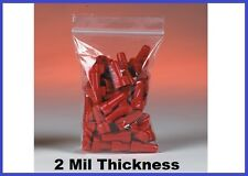 """1000 Reclosable Poly Plastic 2 Mil Ziplock Bags (1 to 4"""") - 34 Sizes Available"""