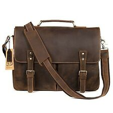 Kattee Mens Real Leather Laptop Bag Satchel Shoulder Messenger Bags