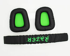 Replacement Ear Pads Headband Cushion for Razer Electra Gaming Pc Music Headsets