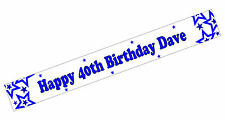 PERSONALISED BANNERS NAME AGE PHOTO BIRTHDAY star 50th 60th 70th 80th blue G2