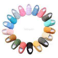 Baby Kids Soft Sole Leather Shoes Infant Boy Girl Toddler Child Moccasin 0-30 M