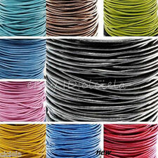 Wholesale 100 M Real Leather Necklace Charms Rope String Cord 1.5 2.0 mm