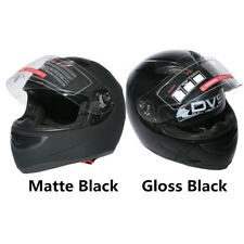 HOT DOT Black Dual Visor Full Face Motorcycle Motorbike Street Helmet M L XL XXL