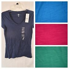 Tommy Hilfiger T-Shirt Womens V Neck Classic Fit Short Sleeve Tee Shirt Size NWT