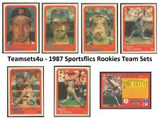 1987 SportFlics Rookies Baseball Team Sets ** Pick Your Team Set **
