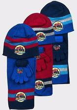 Boys Blaze and The Monster Machines Hat Gloves and Scarf Set 3 PCs Set Age3-7Yrs