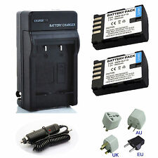 Quick Charger / 1860mAh Battery for Panasonic DMW-BLF19E DMC-GH3 DMC-GH4 Camera