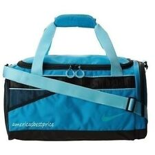 NIKE NEW VARSITY TARPAULIN MEDIUM DUFFLE BAG/GYM TRAVEL BAG,NWT,VERY NICE,BLUE